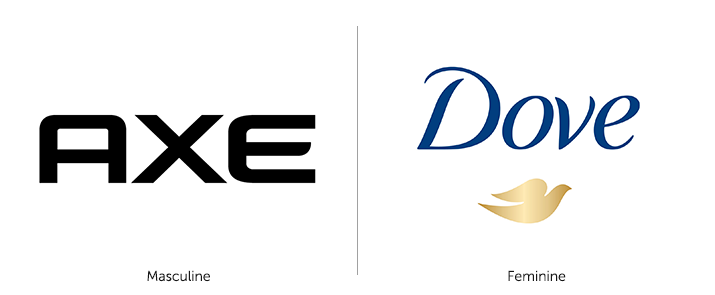 Axe Logo vs Dove Logo
